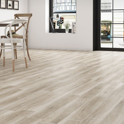 Pecan Wood Effect Floor Tiles