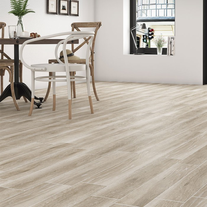 Pecan Taupe Wood Effect Floor TIles