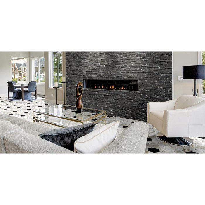 Marmi Black Split Face Effect Tile