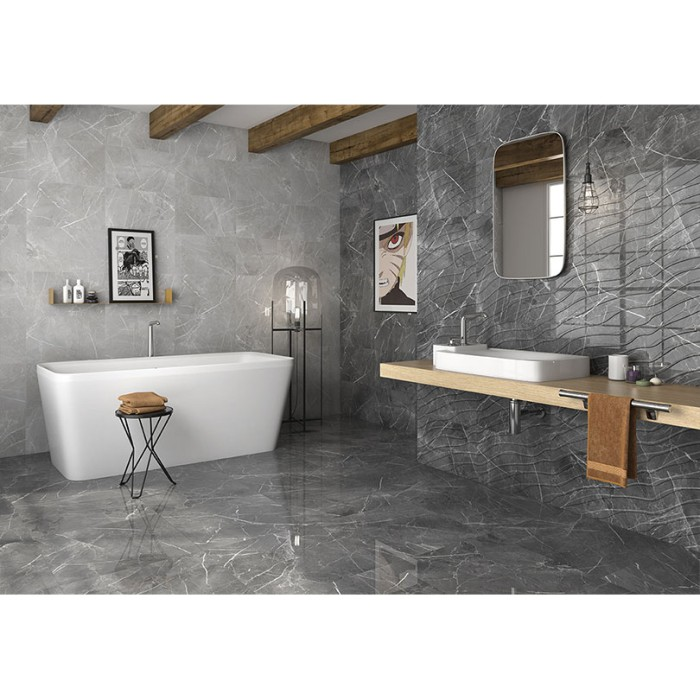 Navia Gris Ceramic Bathroom Wall Tiles