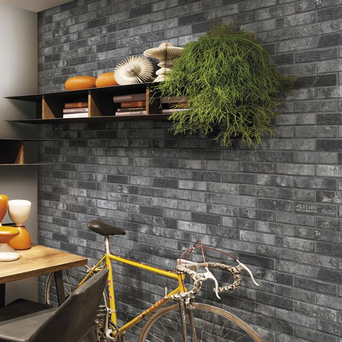 London Charcoal Brick Tile