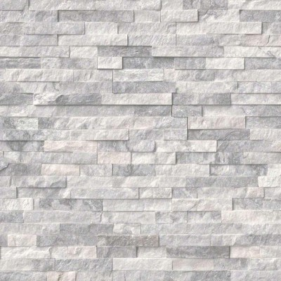 Ice White Split Face Mosaic Tile 10*36
