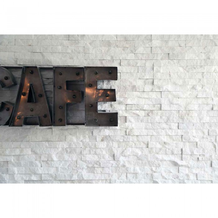 Quartzite White Sparkles Brick Split Face Mosaic Tile 10 36