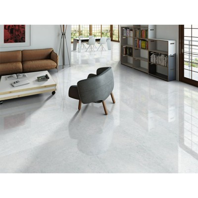 Nival Blanco Brillo Polished Porcelain Floor Tile 600x600