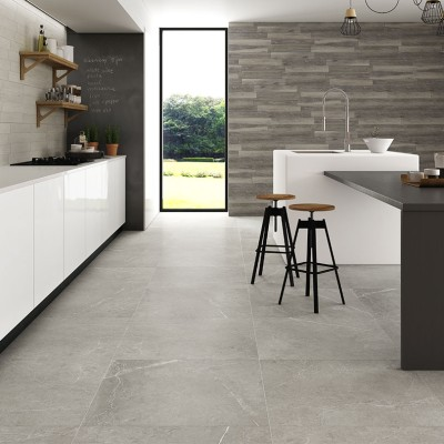 Nival Gris Brillo Polished Porcelain Floor Tile 600x600