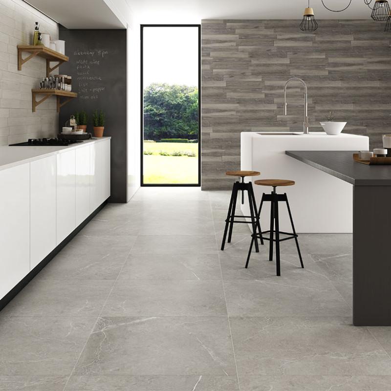 Nival Gris Brillo Polished Porcelain Floor Tile 600x600